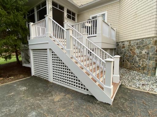 Landing and Stairs in McLean, VA - After Photo