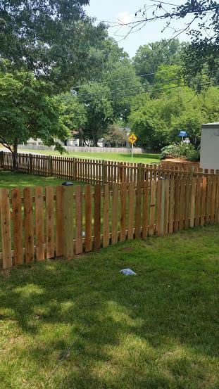 Cedar Fence Installation in Falls Church - After Photo