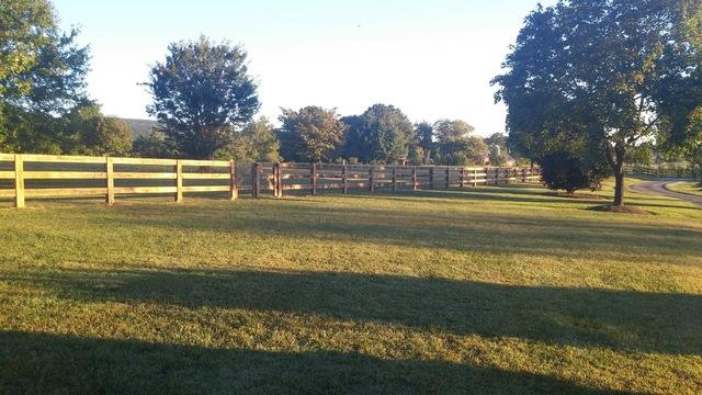 Paddock Fence installation, Bristow, VA - After Photo