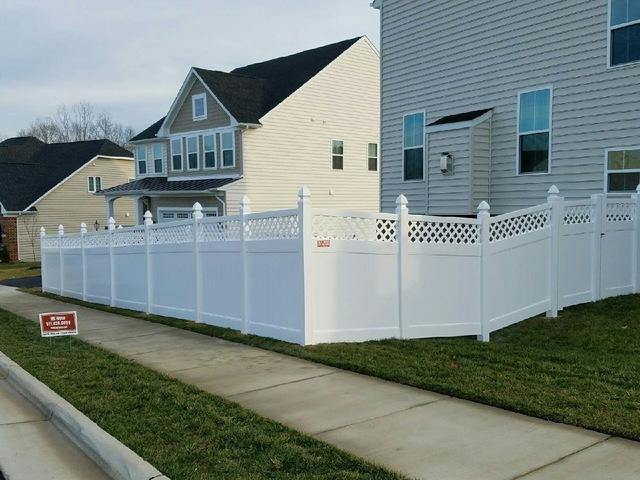 Vinyl Privacy Fence Installation,  Round Hill, VA - After Photo