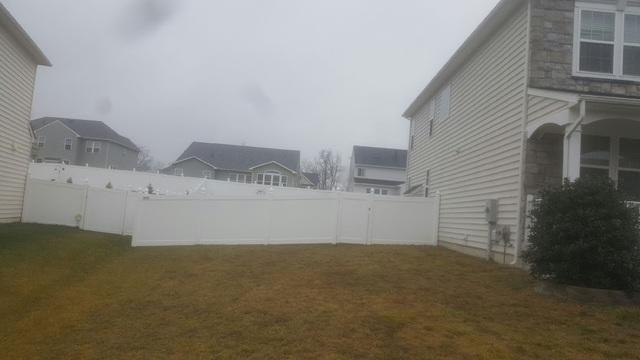 Vinyl Fence Installation Project in Stephenson, VA - After Photo
