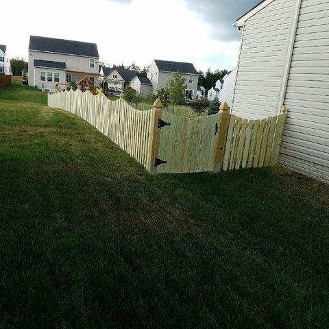 Before and After Picket Fence Install in Arlington,VA