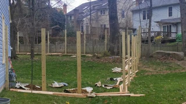 Fence installation in Chantilly, VA - Before Photo