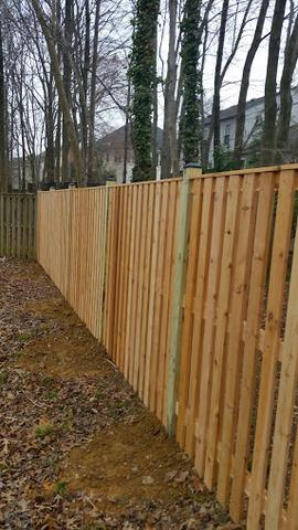 Fence installation in Chantilly, VA