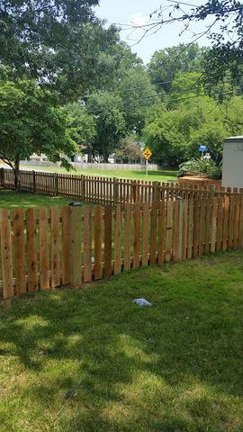 Cedar Fence Installation in Falls Church