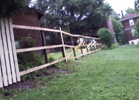 4' Treated Wood Fence Installation in Pittsburgh, PA - Before Photo