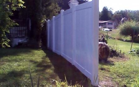 6' White Vinyl Privacy Fence Installation in Midland, PA - After Photo