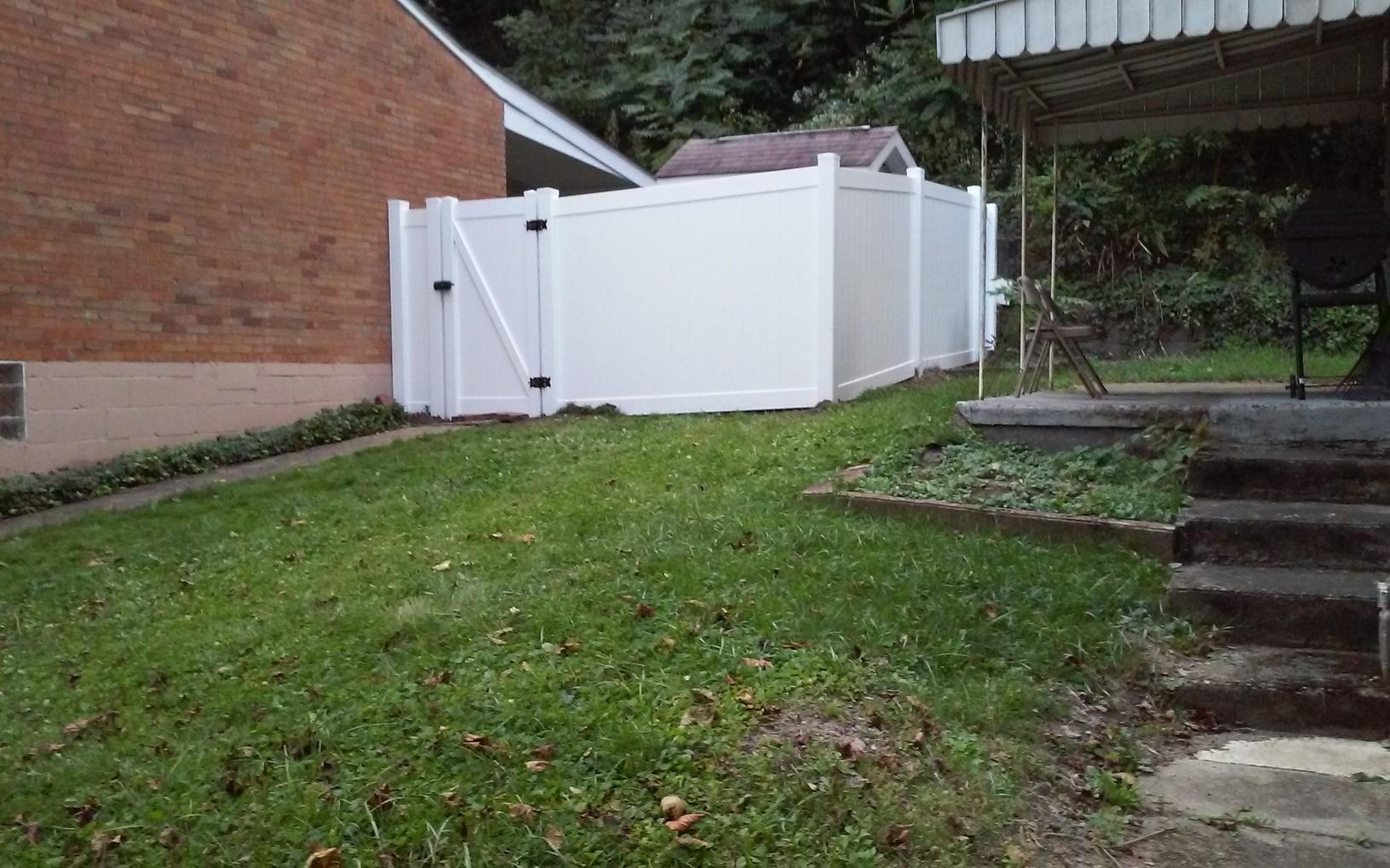 6'  Privacy Vinyl Fence Replacement in Pittsburgh, PA - After Photo