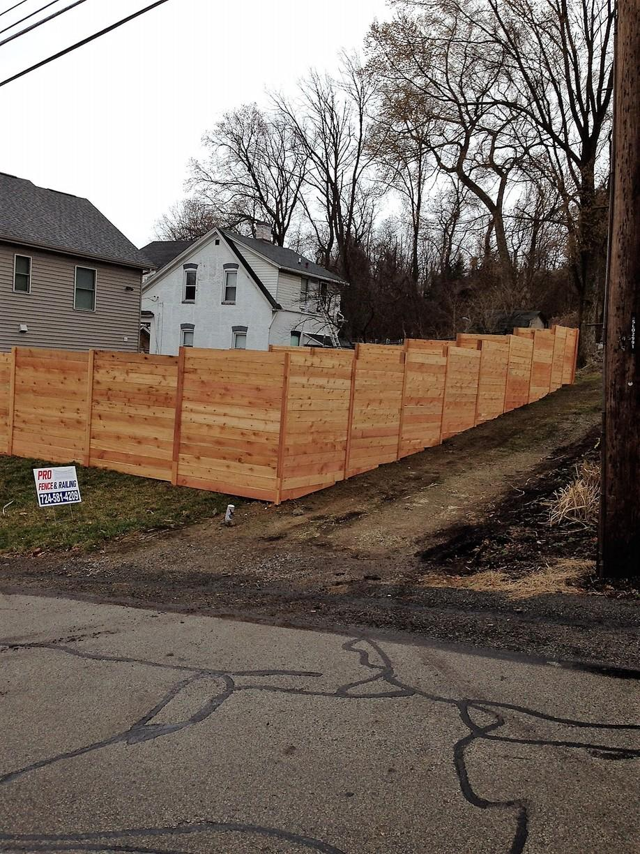 6 Foot Cedar Fence Installation in Pittsburgh, Pa - After Photo