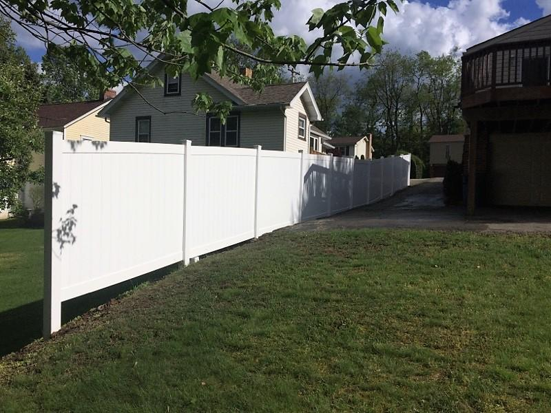 Vinyl Privacy Fence Installation in Glenshaw, PA - After Photo