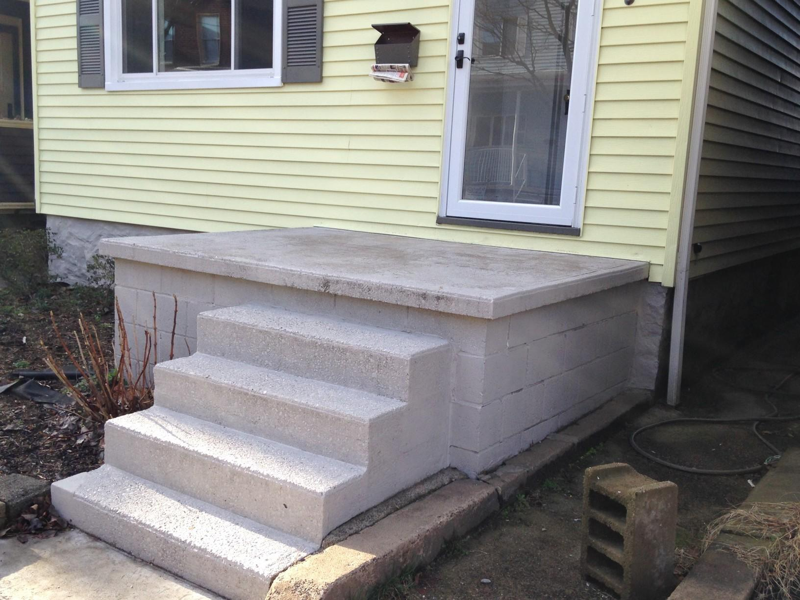 Aluminum Railing Installation in Pittsburgh, Pa - Before Photo