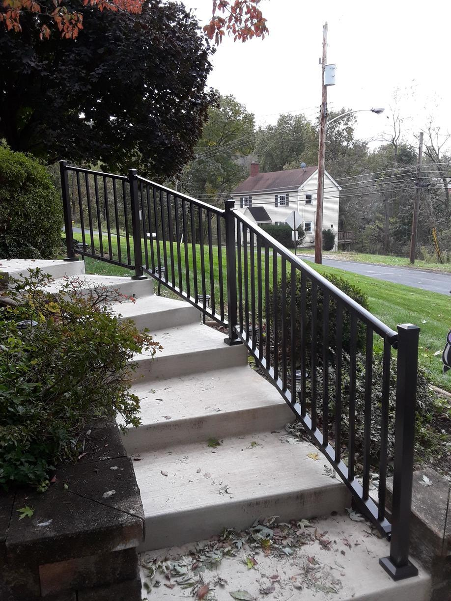 Tuscany Aluminum Railing Installation in South Park, PA - After Photo