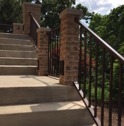 Speckled Walnut Aluminum Railing Installation in Fox Chapel, PA - After Photo