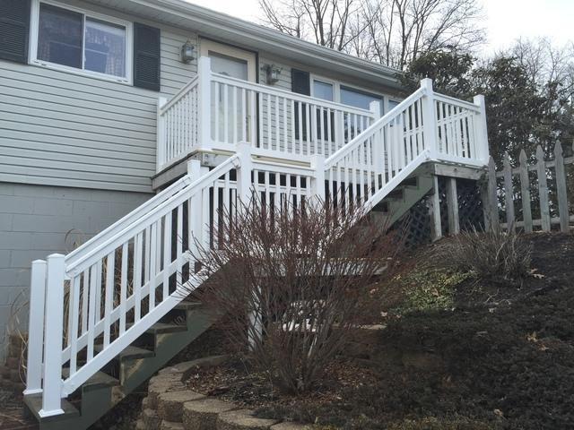 New White Vinyl Railing Replacement in Monaca, PA