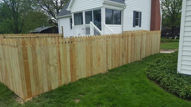 4' Treated Privacy Fence Installation Ellwood City, PA