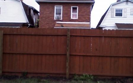 6'  Privacy Treated Wood Fence Replacement in Ambridge,PA