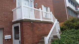 36in Genova White Vinyl Picket Railing Replacement in Bethel Park, PA
