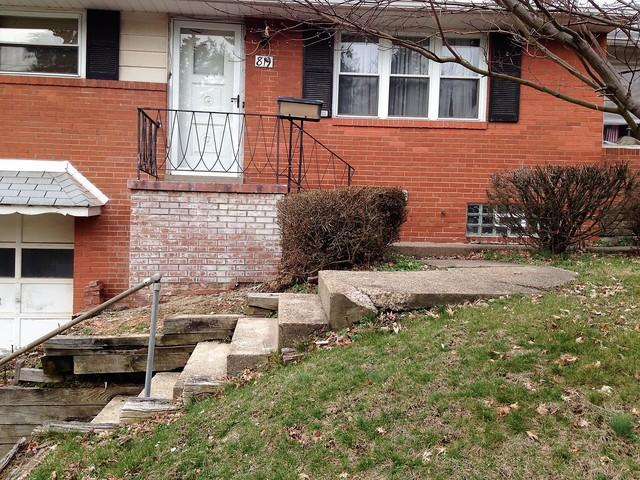 Potenza Vinyl Railing Installation in West Mifflin, Pa - Before Photo