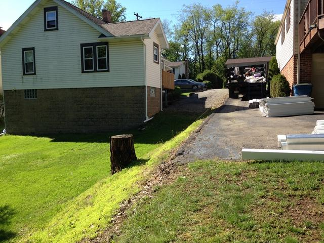Privacy Fence Installation in Glenshaw, Pa - Before Photo