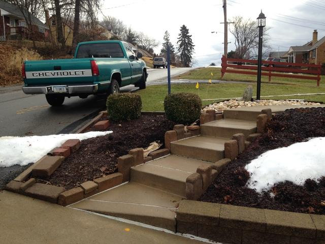 Continuous Handrail Installation in Verona, PA - Before Photo
