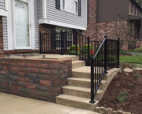 Black Aluminum Railing Installation in Cranberry Township, PA