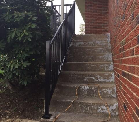 Black Tuscany Aluminum Railing Replacement in Beaver Falls, PA
