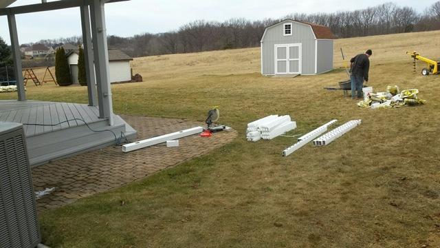 White Vinyl Fence Installation in Aliquippa, PA