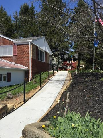 Black Aluminum Handrail Installation in New Brighton, PA