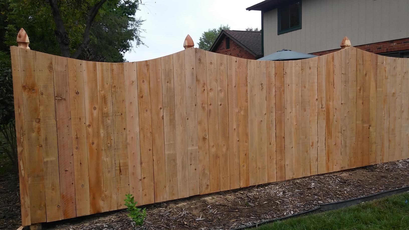 O'Fallon, IL Cedar Privacy Fence Installation - After Photo