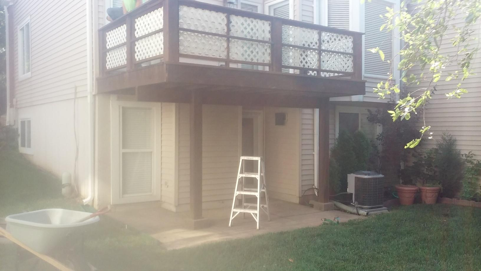 Deck Replacement in Ballwin, MO - Before Photo