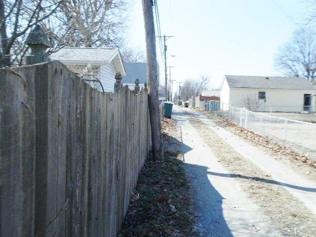 Wood Privacy Fencing Installed in Granite City, IL - Before Photo