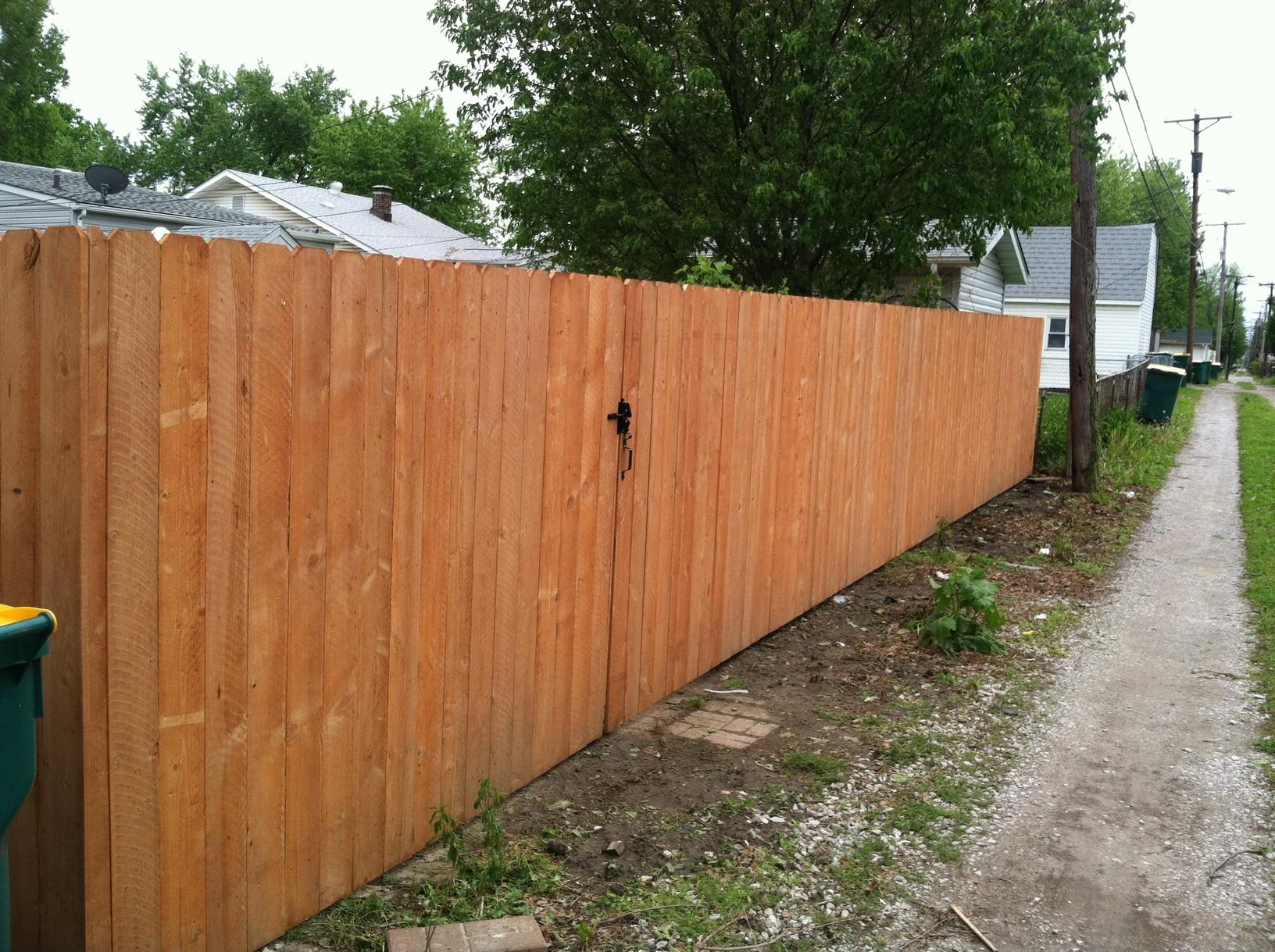Wood Privacy Fencing Installed in Granite City, IL - After Photo