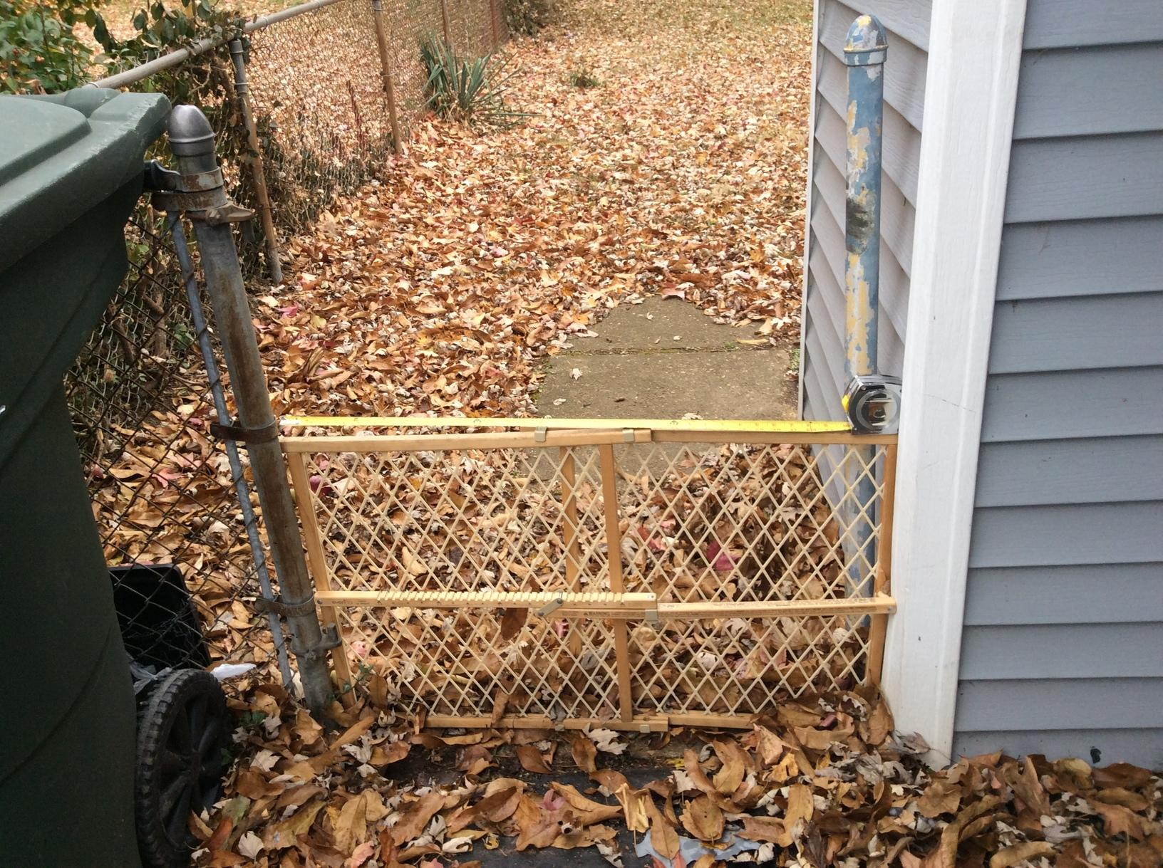 Chain Link Gate Replacement in Normandy, MO - Before Photo