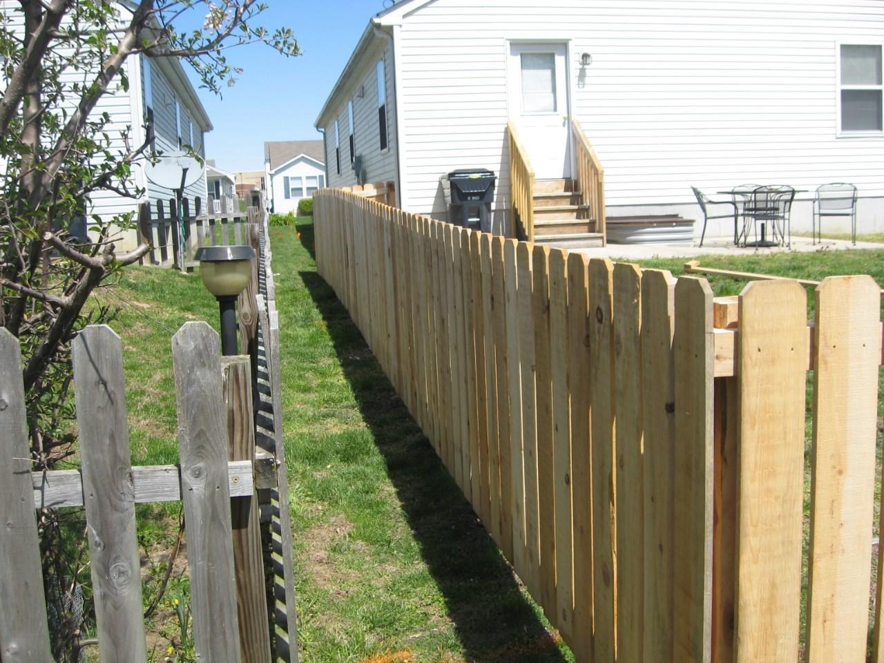 Cedar Picket Fencing Installed in Belleville, IL - After Photo