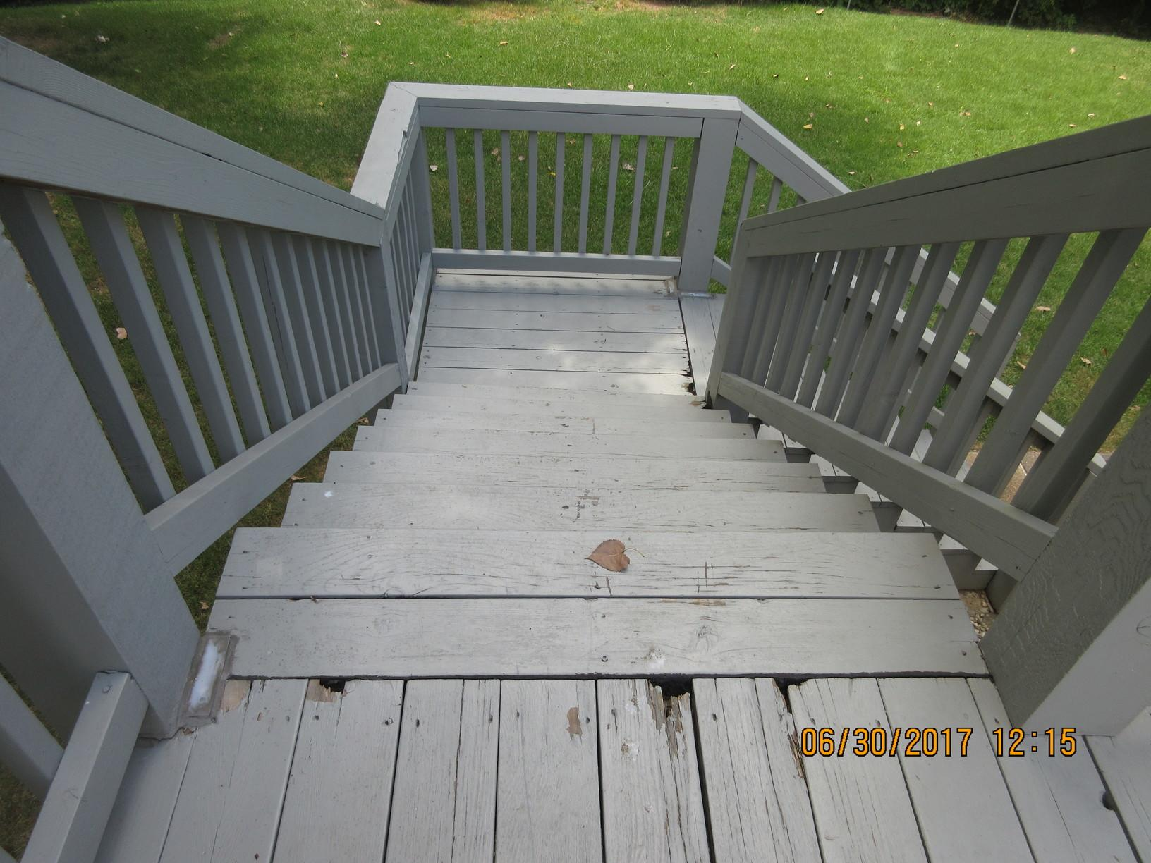 Refurbished Deck in Hazelwood, MO - Before Photo