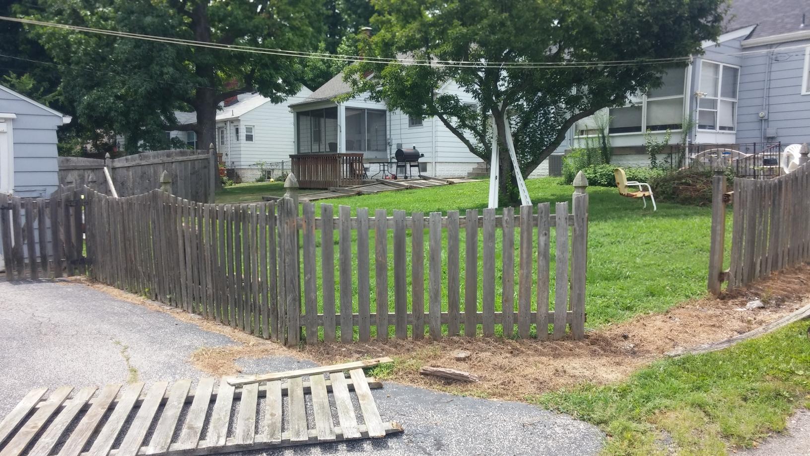 Vinyl Picket Fence Installation in Belleville, IL - Before Photo