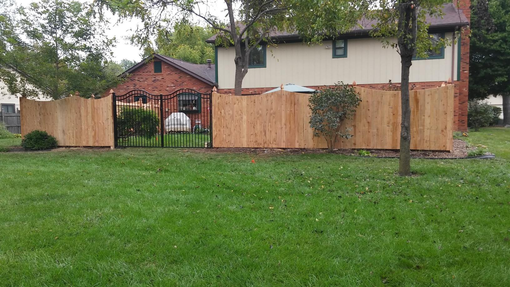 O'Fallon, IL Cedar Fence Installation - After Photo