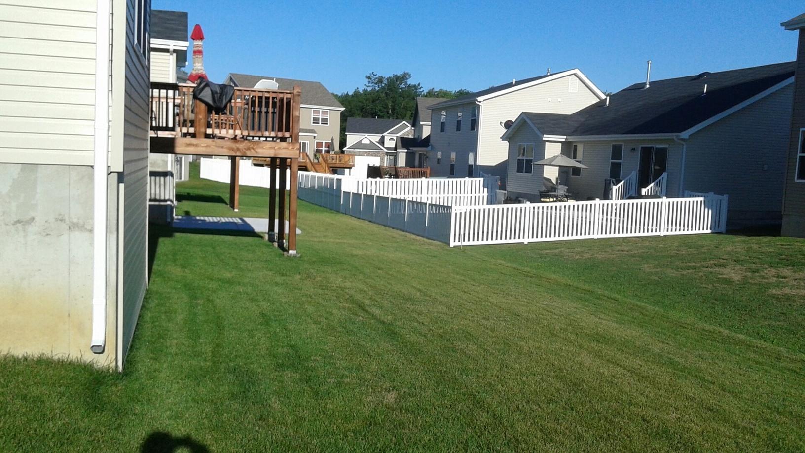 O'Fallon, MO Vinyl Fence Installation - Before Photo