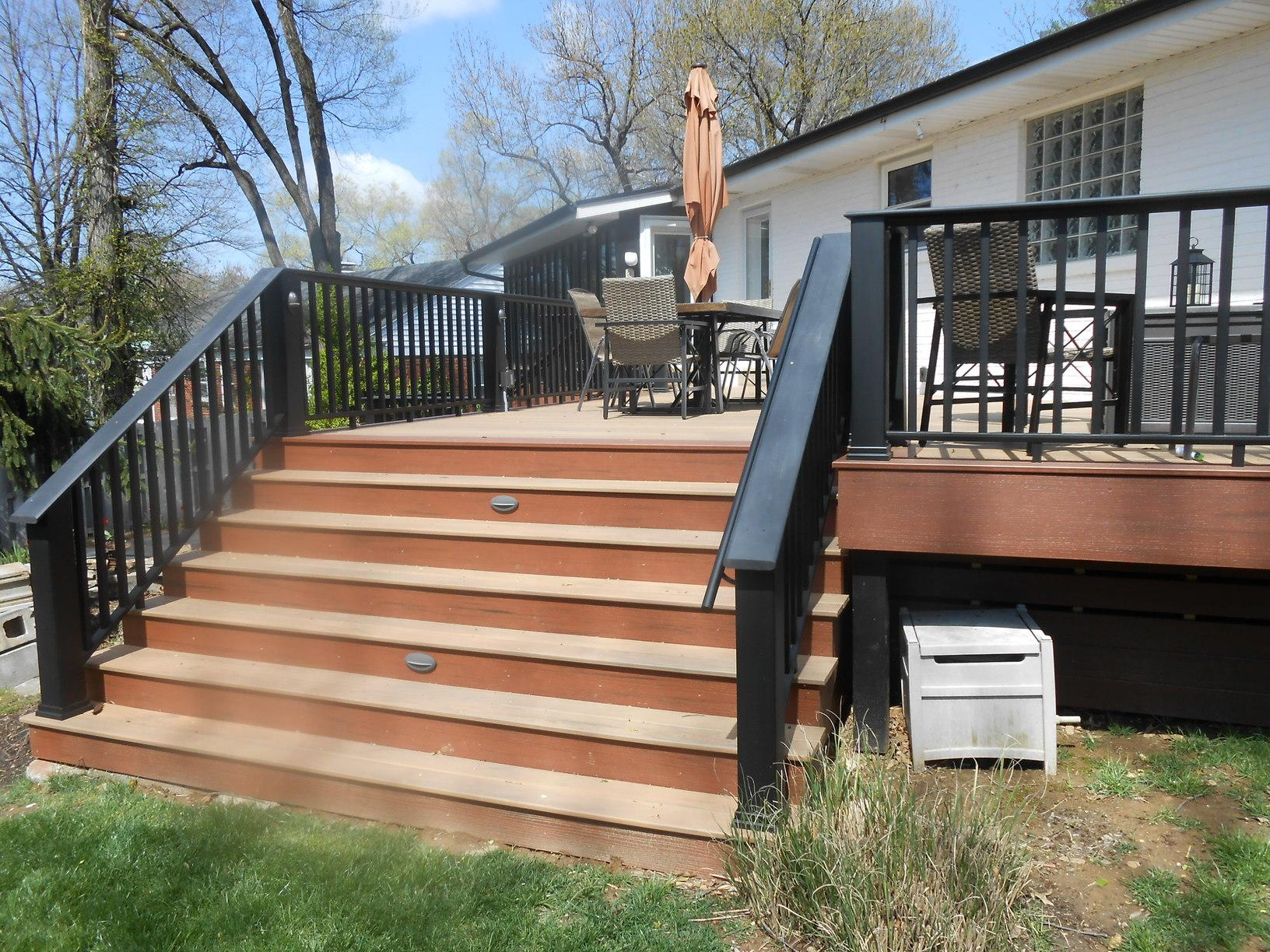 Deck Stairs Updated in Crestwood, Missouri - After Photo