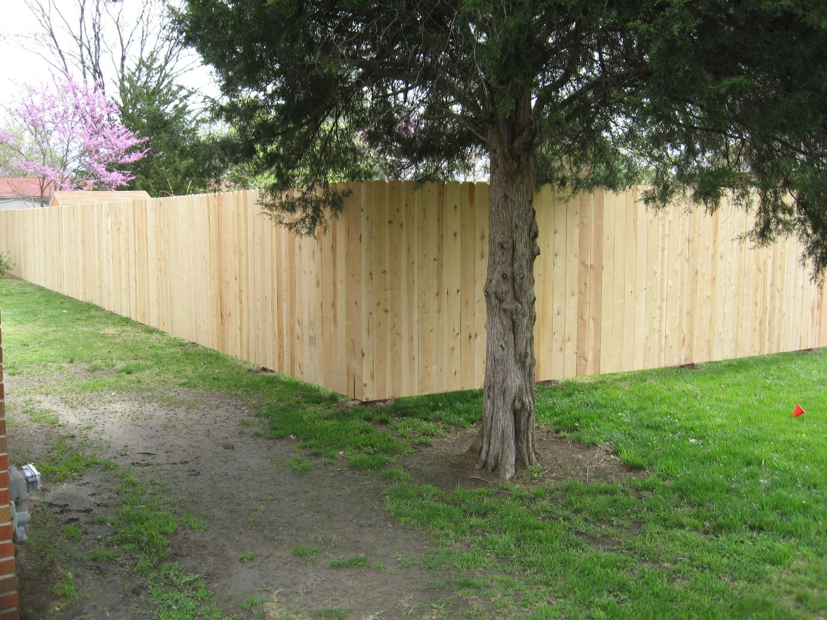 Cedar Wood Fence Installed in Granite City, IL - After Photo