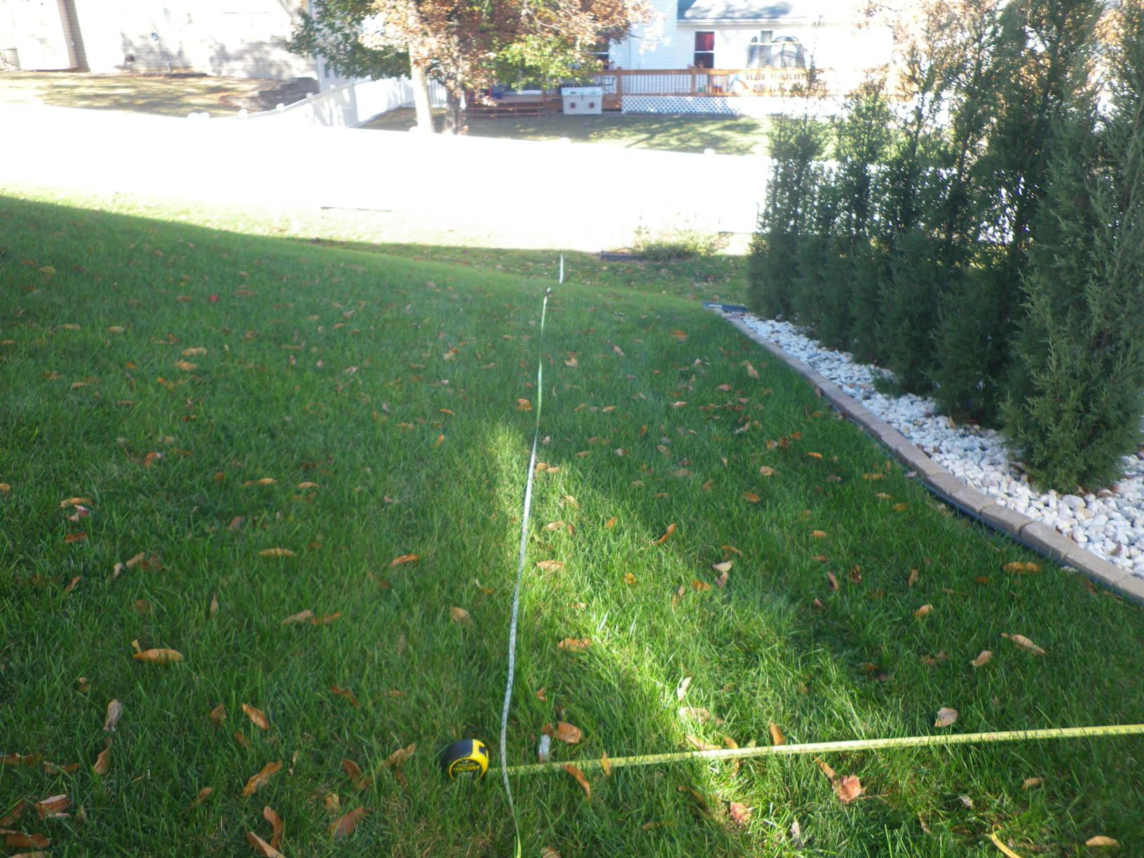 St Peters, MO Vinyl Fence Installation - Before Photo