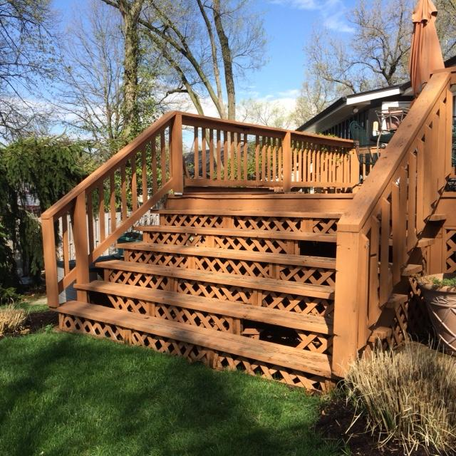 Deck Stairs Updated in Crestwood, Missouri - Before Photo