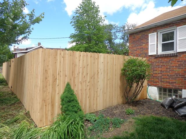 St Louis, MO Cedar Fence Installation - After Photo