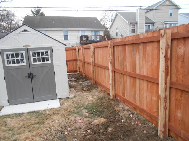 Florissant, MO Douglas Fir Privacy Fence Installation