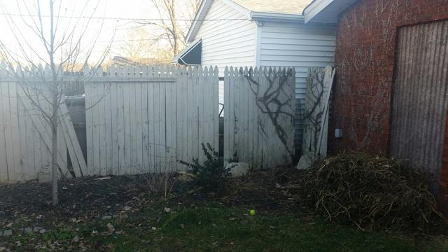 St Louis, MO Wood Fence Replacement - Before Photo