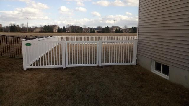 Closed Top Picket Fencing in Belleville - After Photo