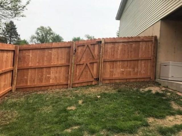 6'h Douglas Fir Pre-stained Privacy Fence in Bethalto, IL - After Photo