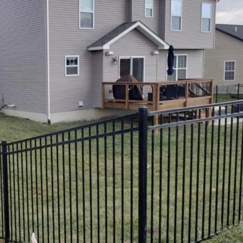 Montage Steel Fence - O'Fallon, IL - After Photo
