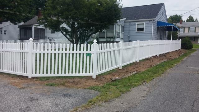 Vinyl Picket Fence Installation in Belleville, IL - After Photo