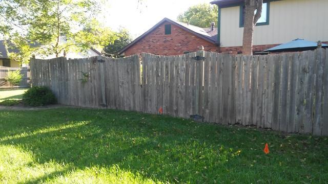 O'Fallon, IL Cedar Fence Installation - Before Photo